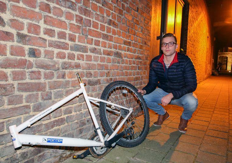 Wesley Mahieu hoopt de rest van zijn mountainbike ook nog terug te krijgen.