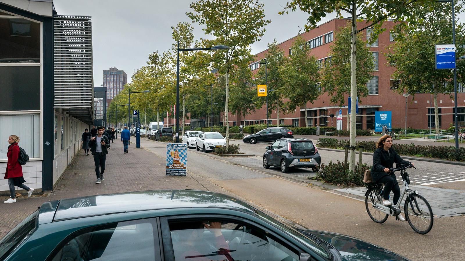 Nederland,  Den Bosch, hoek Hugo de Grootlaan en Onderwijsboulevard