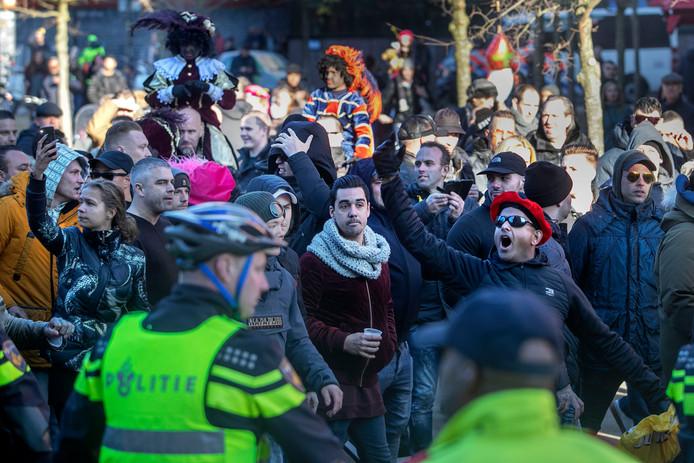 De demonstratie van de groep Kick Out Zwarte Piet (KOZP) liet zaterdag 17 november uit de hand.