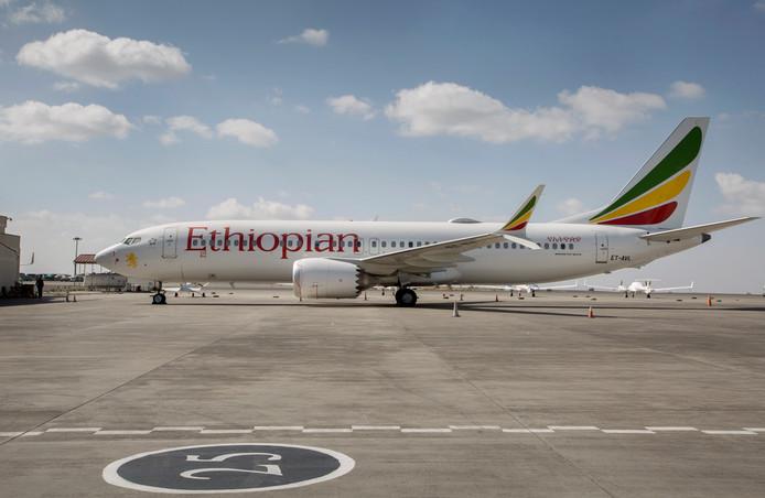 Een Boeing 737 Max 8 van Ethiopian Airlines.