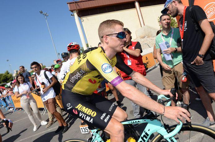 Steven Kruijswijk verloor kostbare tijd in de tweede etappe van de Vuelta.