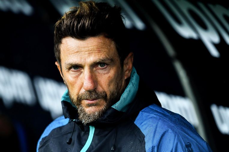 Eusebio Di Francesco als coach van Sampdoria.