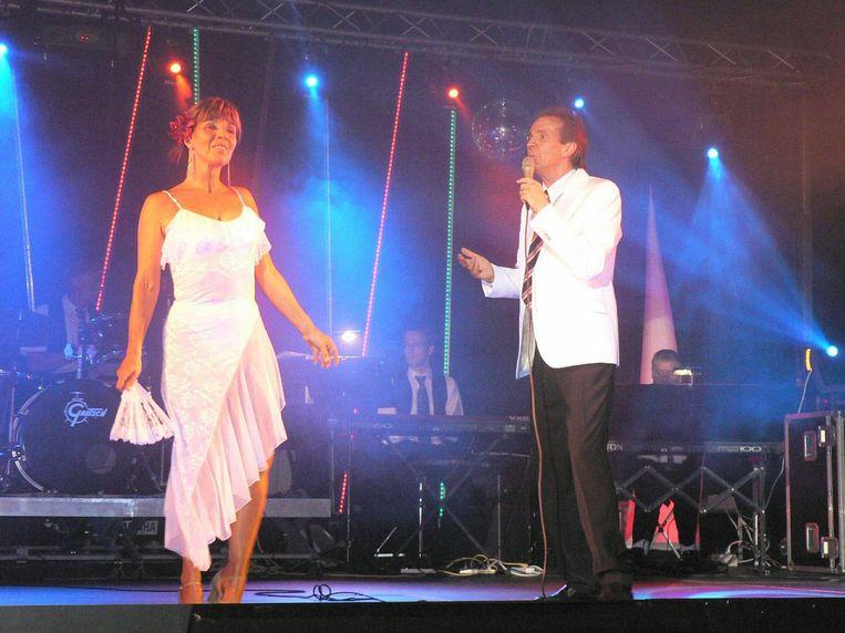 Paul Severs en echtgenote Paulette enkele jaren geleden op het podium.