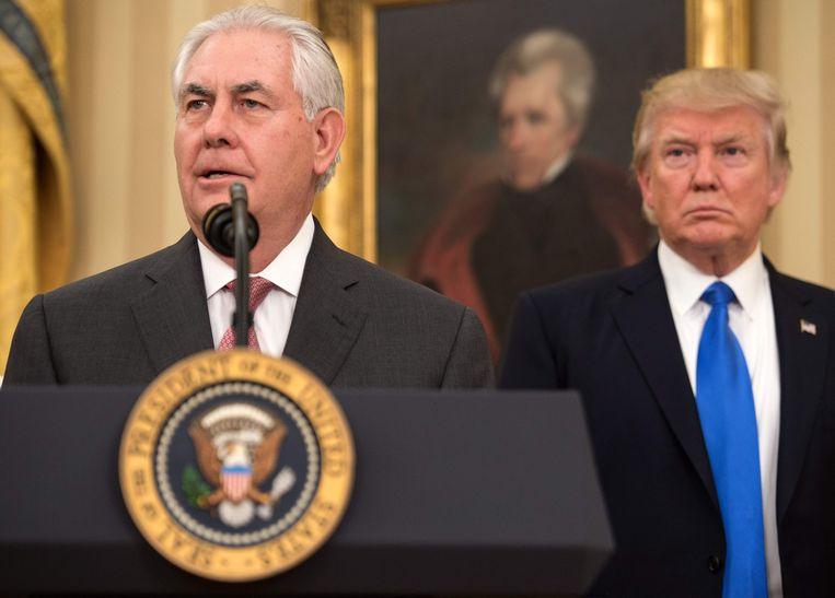 Trump met zijn vroegere minister van Buitenlandse Zaken Rex Tillerson