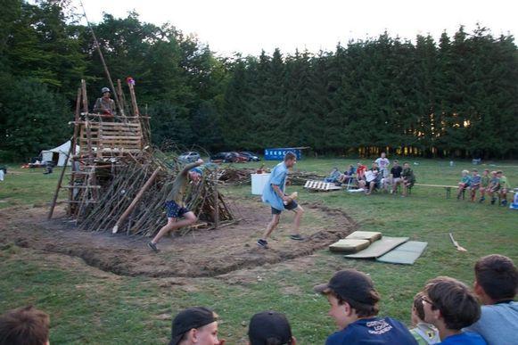Archiefbeeld van een kamp van de scouts van Overijse.
