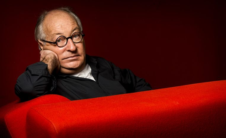 Portret van Youp van t Hek. De cabaretier neemt met zijn oudejaarsconference Wat was de vraag ook alweer het jaar 2014 door. Beeld anp