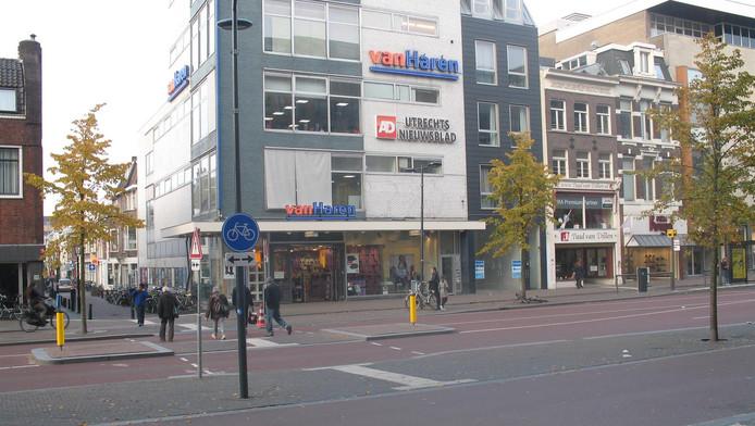 De redactie van het AD Utrechts Nieuwsblad aan het Vredenburg in Utrecht