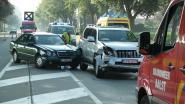 Wagens botsen tijdens inhaalmanoeuvre