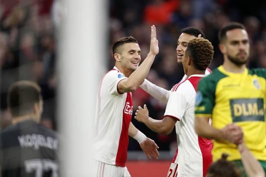 Tadic kreeg de 1-0 in de schoot geworpen door een blunder van Fortuna-verdediger Pinto.