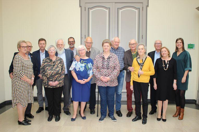 De jubilarissen werden ontvangen op het gemeentehuis