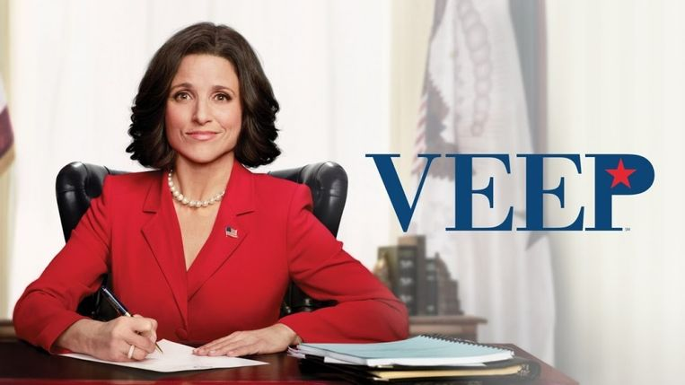 In de populaire HBO-serie Veep speelt Julia Louis-Dreyfus (vice-) president Selina Meyer, alleenstaande vrouw met een dochter. Beeld