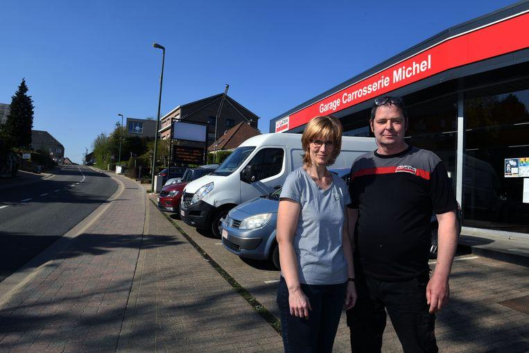 Michel en Christine van Garage Michel aan de Ganzendries in Lubbeek.