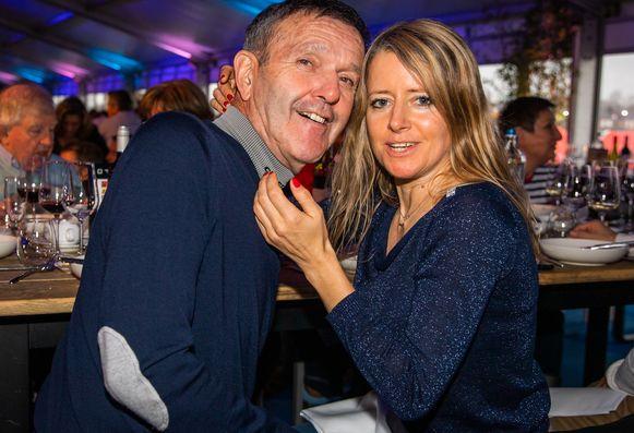 Roger De Vlaeminck met z'n nieuwe vriendin Peggy.