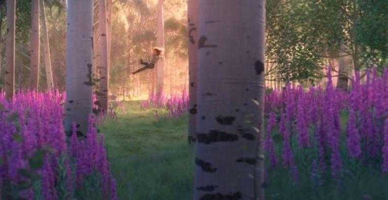Het bos in de trailer van Frozen 2