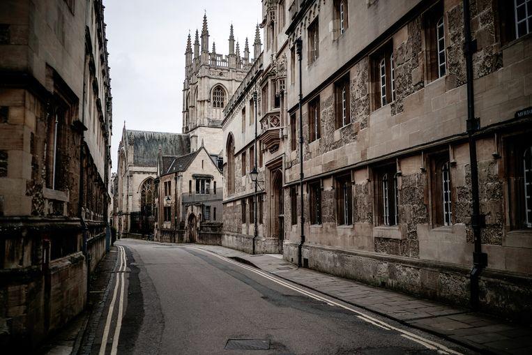 Lege straten in Oxford door de coronacrisis.  Beeld Getty Images