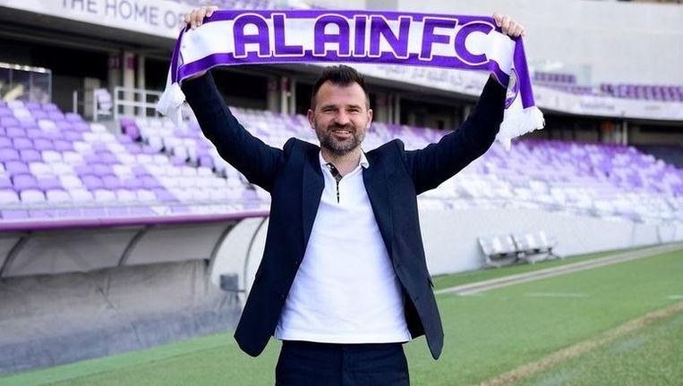Leko bij zijn voorstelling als de nieuwe trainer van het Arabische Al Ain.