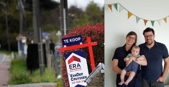 Eva en Niels zijn op zoek naar een huis in het Gentse om samen met hun zoontje Gabriël te wonen.