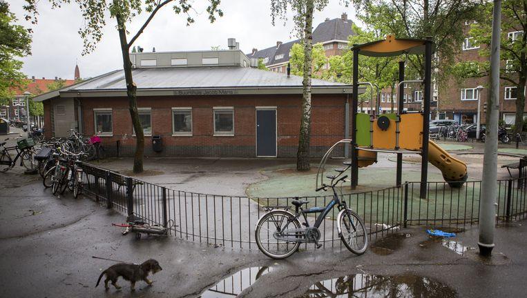 De locatie van 24/7 Kids aan het Columbusplein, die niet mocht worden gebruikt. Beeld Julius Schrank / de Volkskrant