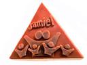 Voorbeeld van wassen driehoek voor kunstwerk Ouwe Sok voor Roosendaal 750 jaar