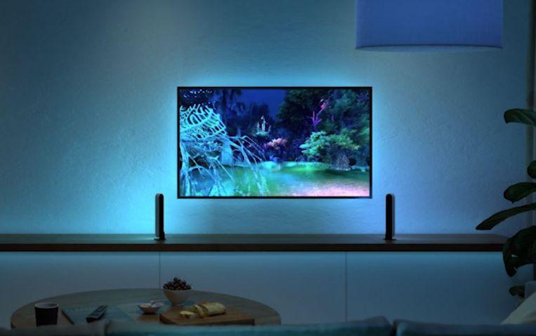 De Philips Hue Play-lampen in actie. Beeld Signify