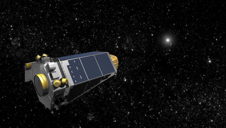 Een illustratie van ruimtetelescoop Kepler.