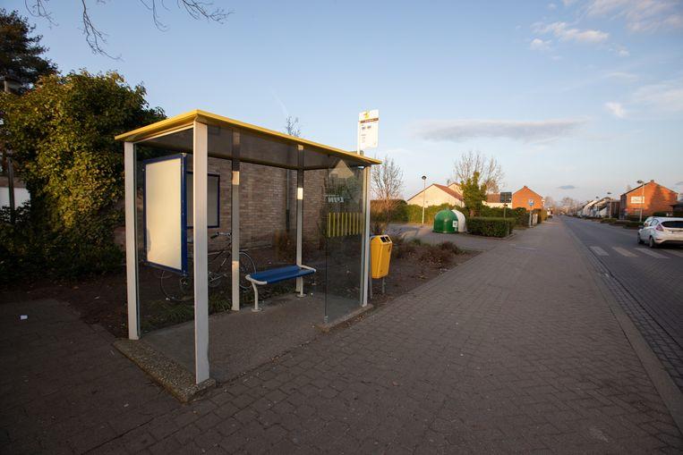 Bushalte 'Grote Barrier' in Hasselt.