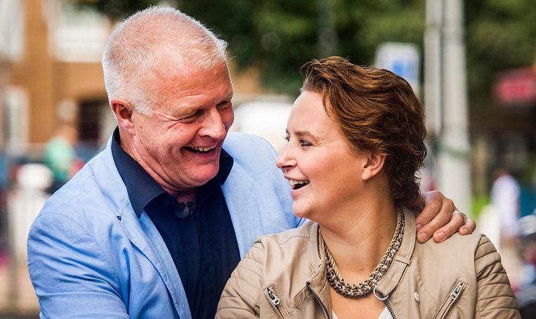Peter Jan Rens samen met zijn vriendin Virginia van Eck. Beeld anp