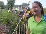 Kinderen zijn trots op eerste oogst bij voedselbosje Hulst