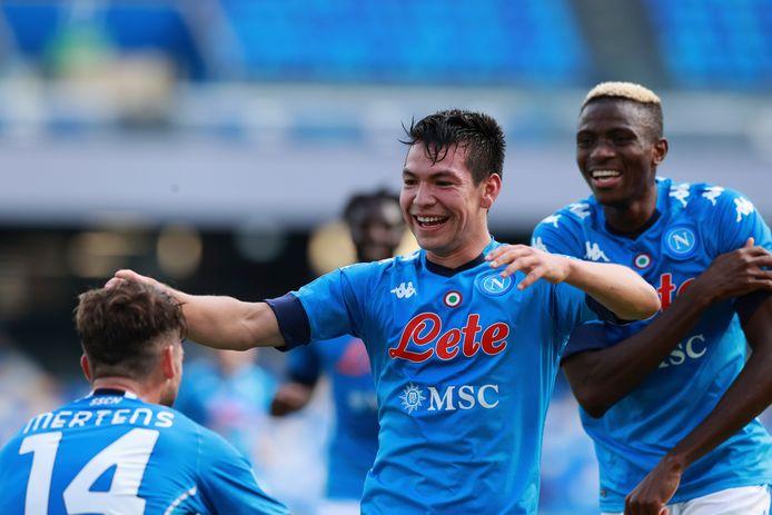 Hirving Lozano in het shirt van SSC Napoli