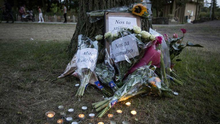 De Arubaan Mitch Henriquez, die in juni overleed bij zijn aanhouding, liep tijdens de hardhandige arrestatie onder meer een gebroken strottenhoofd op. Beeld anp