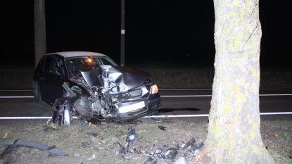 Automobiliste (23) gewond na klap tegen boom