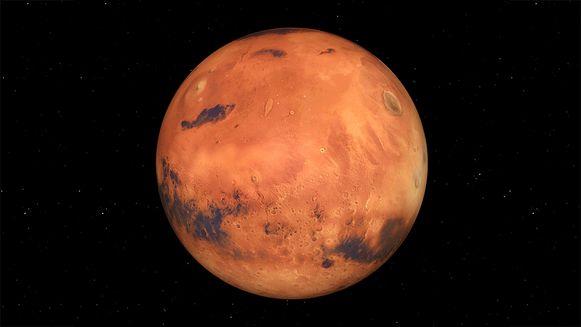 3D computerbeeld van Mars