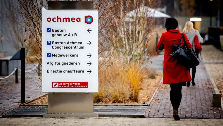Werknemers bij het hoofdkantoor van Achmea, de grootste verzekeraar van Nederland. Beeld anp