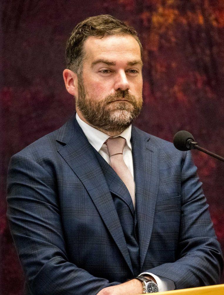 VVD-fractievoorzitter Klaas Dijkhoff tijdens een Kamerdebat. Beeld ANP