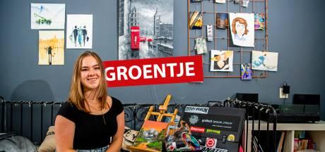 Sophie (17) maakt kunst en kijkt veel naar Bob Ross: 'Mijn doel is om er later van te kunnen leven'