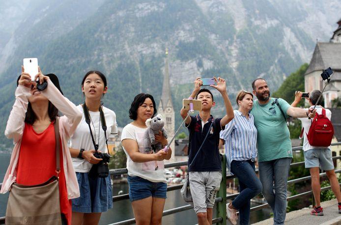 Aan toeristen geen gebrek in Hallstatt