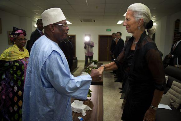 IMF-baas Christine Lagard ontmoet eerder dit jaar de president van Mali, Ibrahim Boubacar Keita