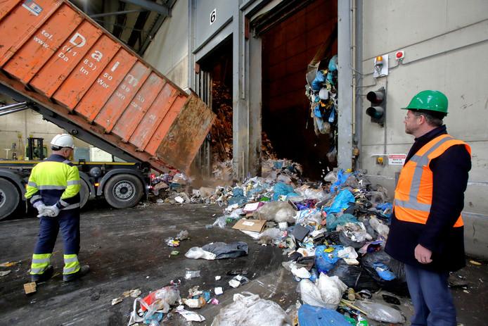 Een deel van het restafval gaat naar afvalverwerker HVC.