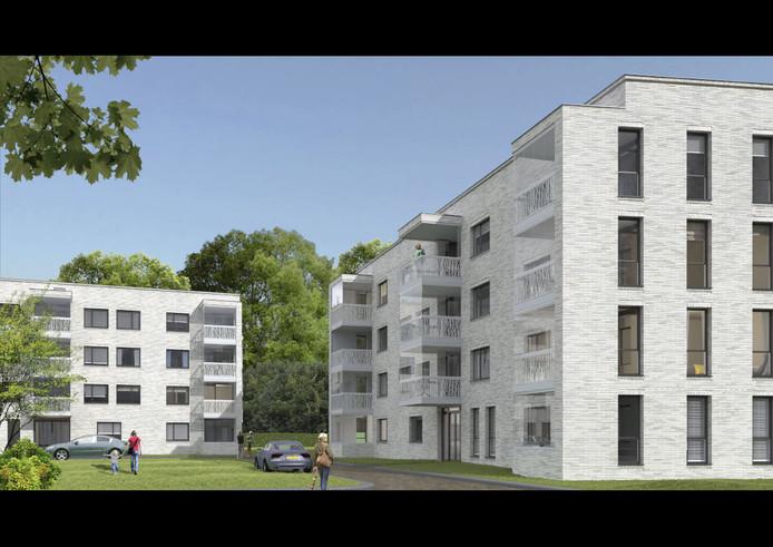 Een impressie van de appartementen aan de Merpatistraat in Vught, nabij woonzorgcentrum Theresia.