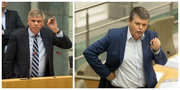 """""""Si vous vous demandiez encore pourquoi nous refusons de travailler avec vous, vous venez d'en donner la raison"""", a lancé Bart Somers(à droite sur la photo) à Filip Dewinter (à gauche sur la photo)"""