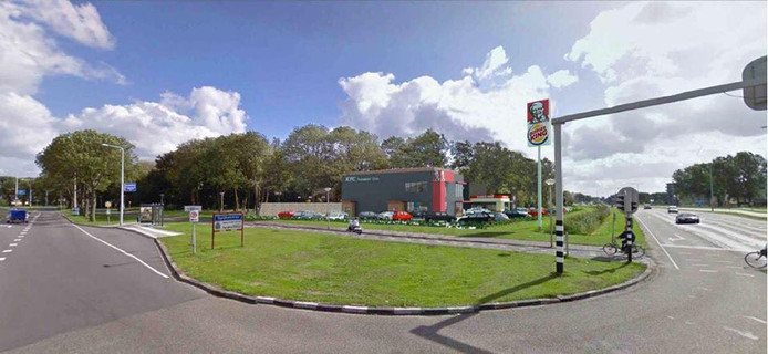 De Groene Kruisweg in Spijkenisse, volgens de gemeente konden automobilisten deze beter mijden.