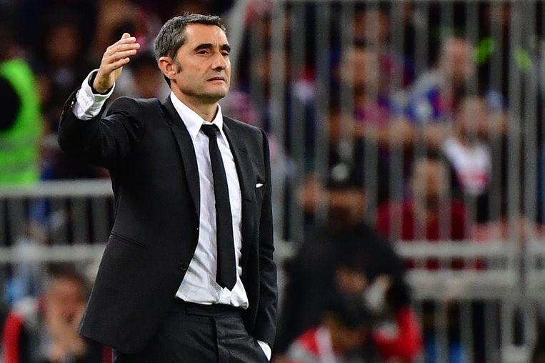 Valverde op 9 januari tijdens de verloren halve finale van de Spaanse Super Cup tegen Atletico Madrid.  Beeld AFP