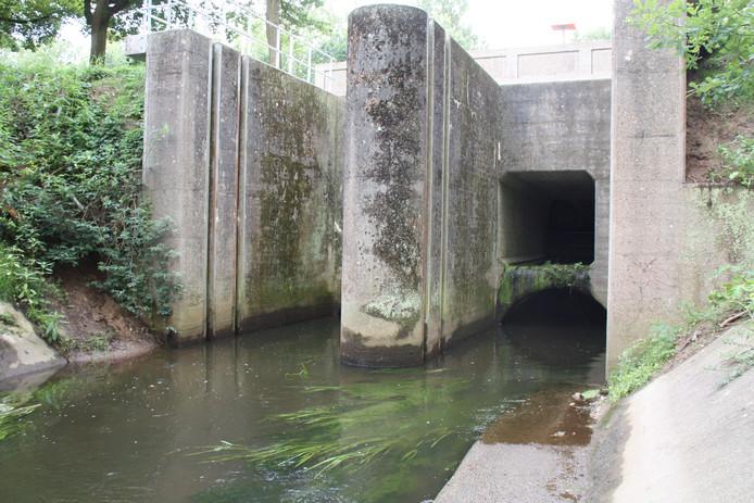 Via twee grote rioleringsbuizen (en een overstort van het kanaal) stroomt de Dommel bij Neerpelt, onder het kanaal Bocholt-Herentaals door.