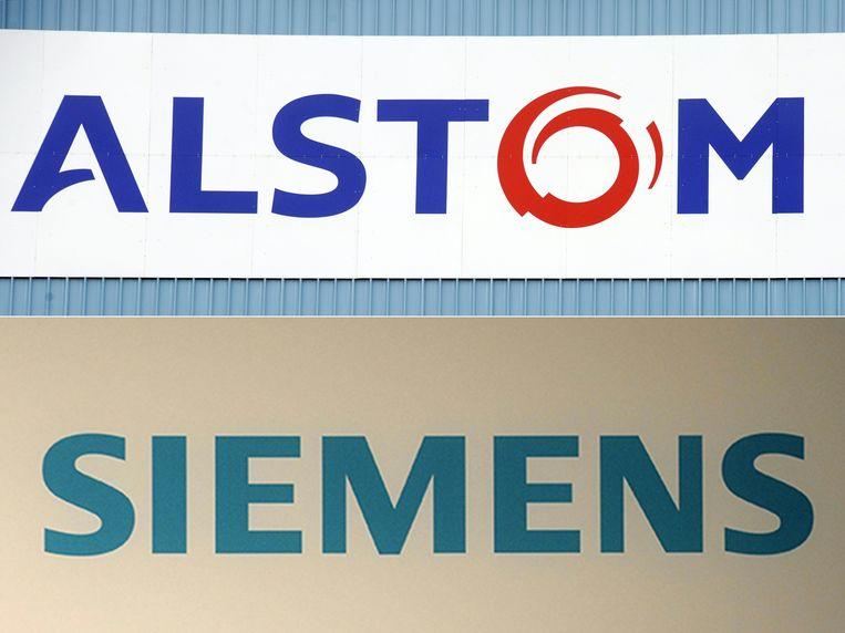 Een fusie van treinbouwers Alstom en Siemens is door de Eurocommissaris voor Mededinging verboden. Beeld AFP