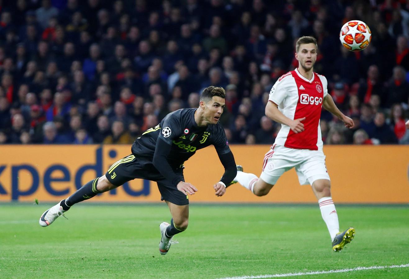 April 2019: Ronaldo kopt raak en zet Juventus  op 0-1 in de Arena.