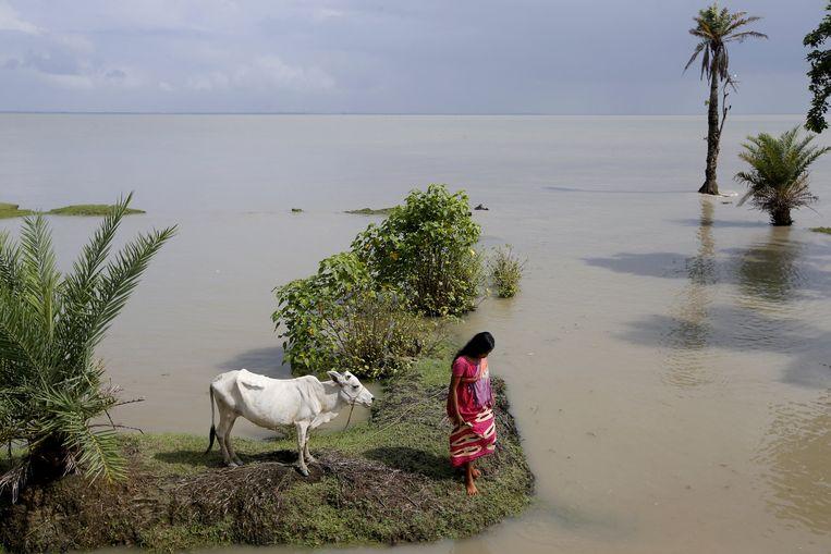 Hoogtij bedreigt voortdurend het Oost-Indiase eilandje Ghoramara.