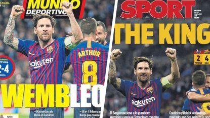 """""""Wembley is de kathedraal, Messi is voetbal"""": Catalaanse krant geeft Leo 10 op 10 en zelfs Madrileense media bezingen lof van FC Barcelona-ster"""