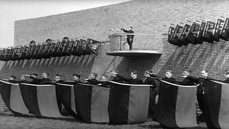 De hagepreek van de NSB in Lunteren, met Anton Mussert, 22 juni 1940. Beeld