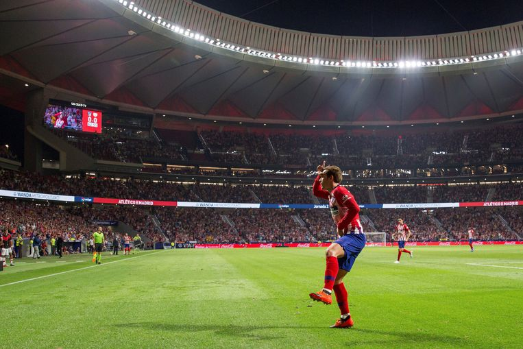 Griezmann in Wanda Metropolitano.