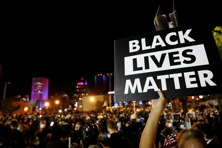 Een Black Lives Matter-demonstratie in Rochester, New York. Beeld Reuters